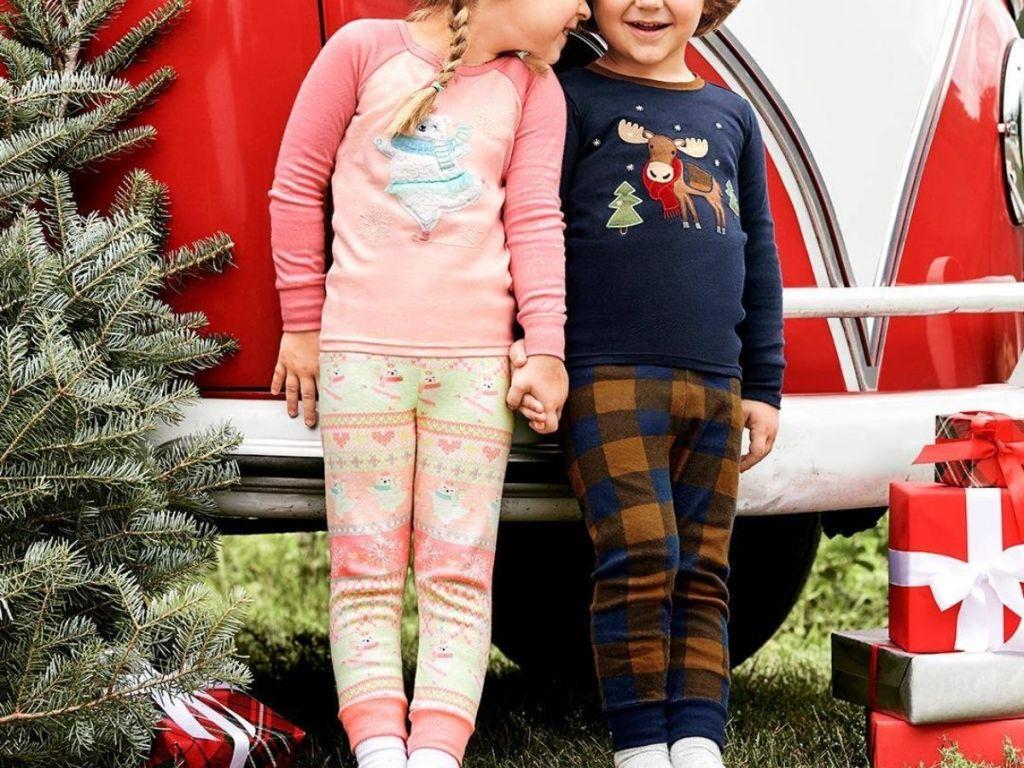 Two kids wearing Gymboree Gymmies