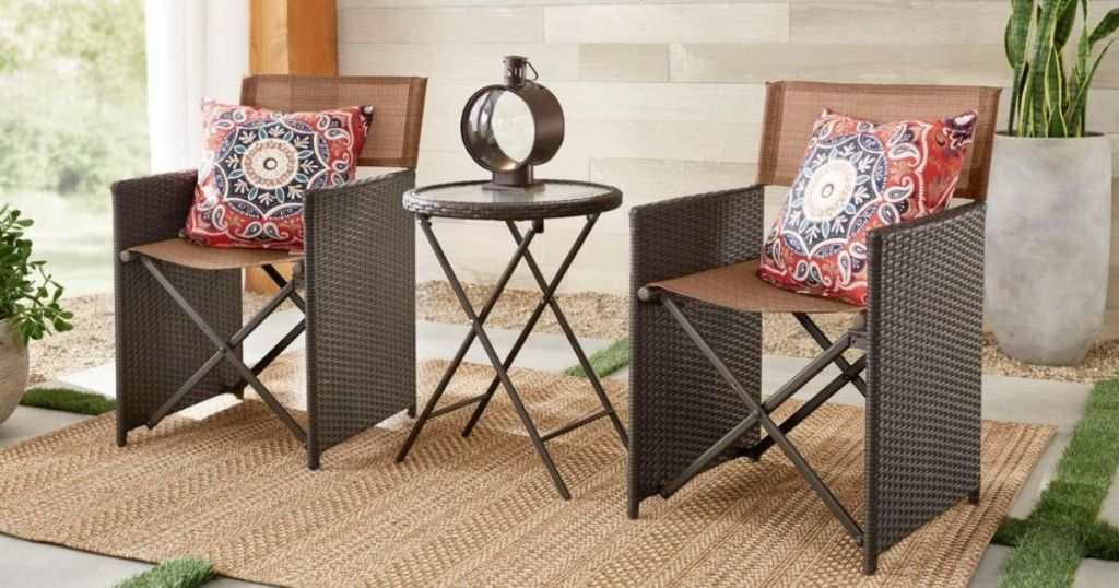 Hampton Bay Bistro Set with table and chairs