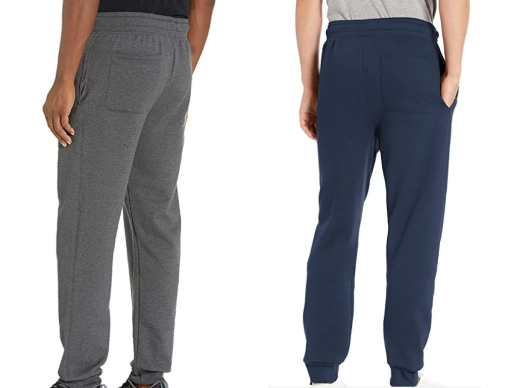 2 men wearing hanes sweatpants