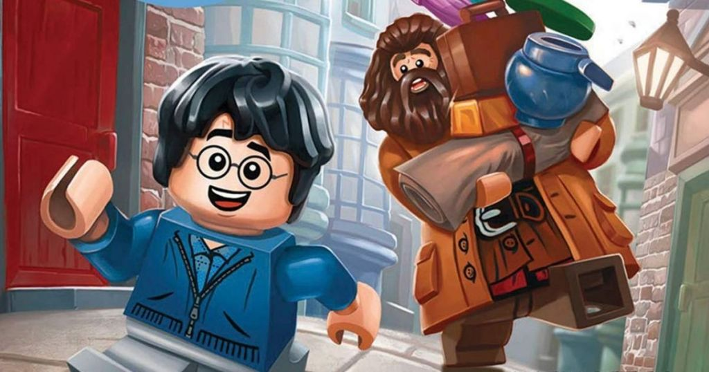 Harry Potter and Hagrid as LEGO figures