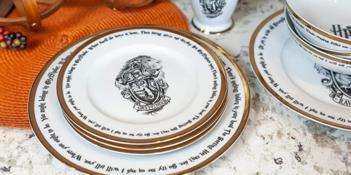 Harry Potter 16-Piece Dinnerware Set Only $99.99 Shipped on Amazon | Add Some Magic to Your Dinner Table!