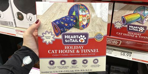 Festive Holiday Cat House & Tunnel Only $8.99 at ALDI