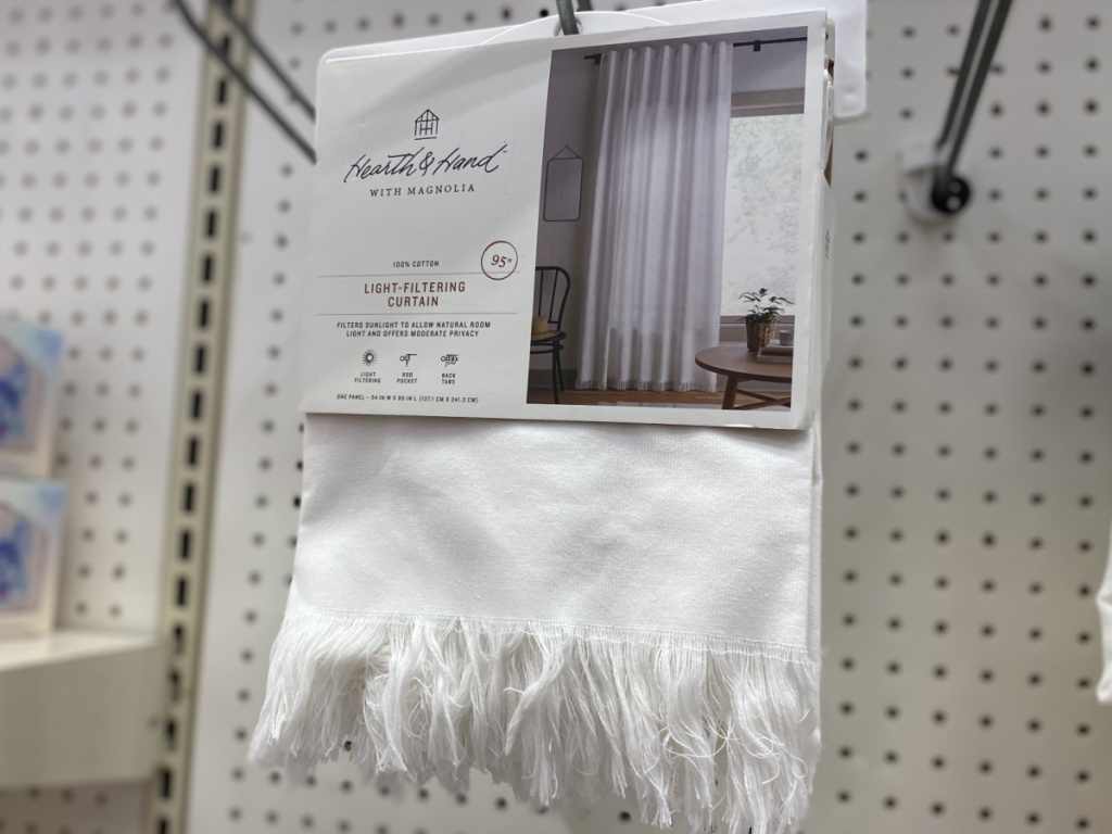 hearth and hand with magnolia white fringe curtain at target