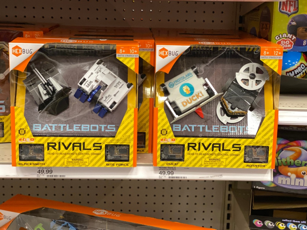 2 hexbug toys on target store shelf