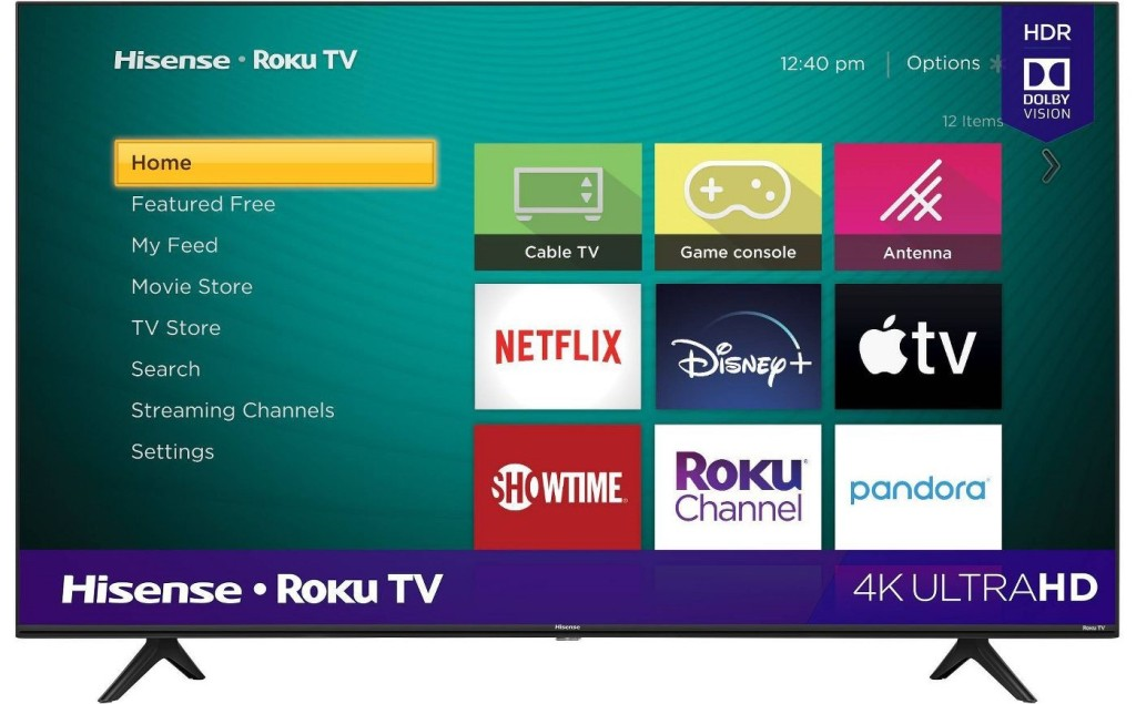 TV with apps displayed