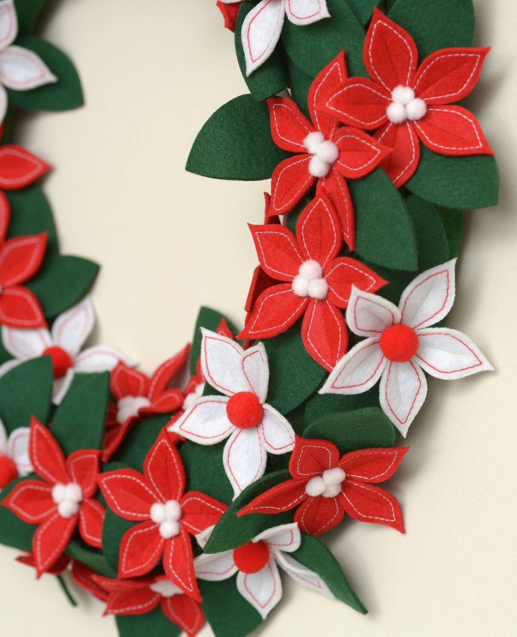 side view of a wreath