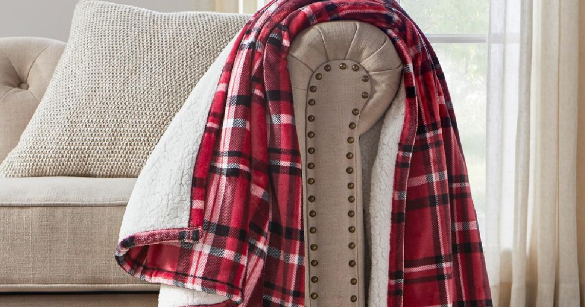 Oversized Plush Sherpa Throw Blankets Only $14.98 Shipped on HomeDepot.com (Regularly $30)