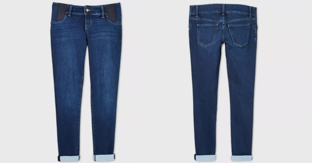 front and back of Isabel Maternity Jeans Target