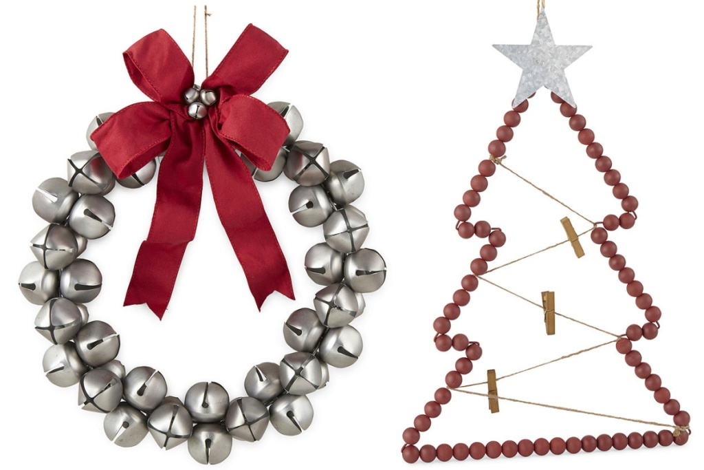 JCP christmas decor wreath and card holder