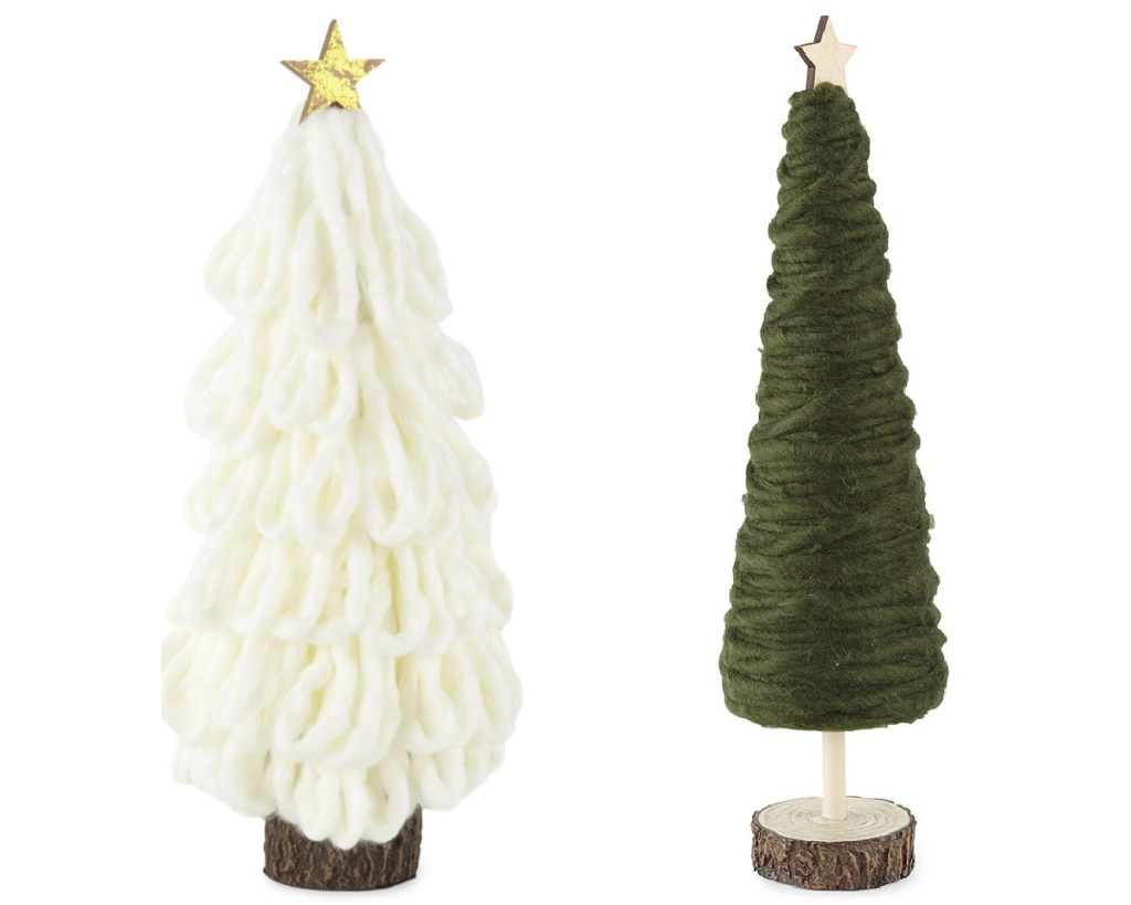 JCP christmas trees made of yarn
