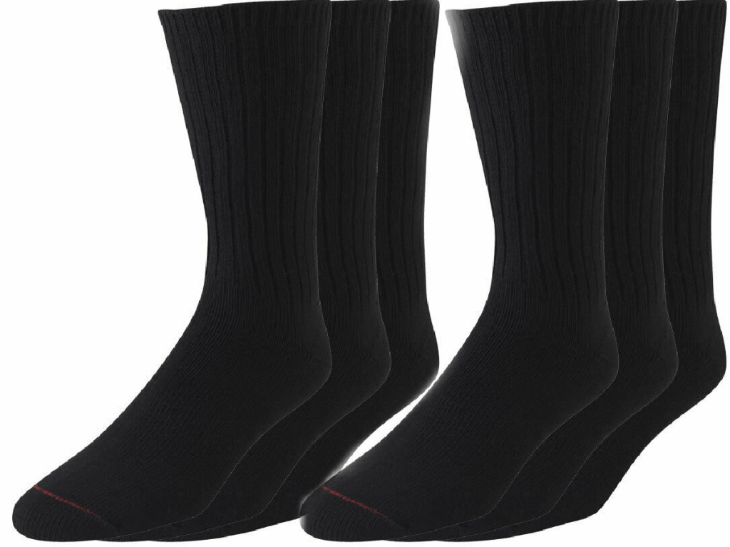 two pairs of black Jockey Mens Staycool Socks