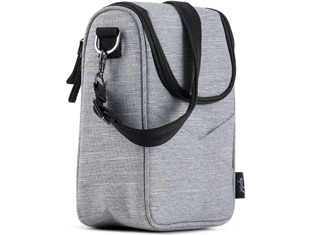 gray cooler bag