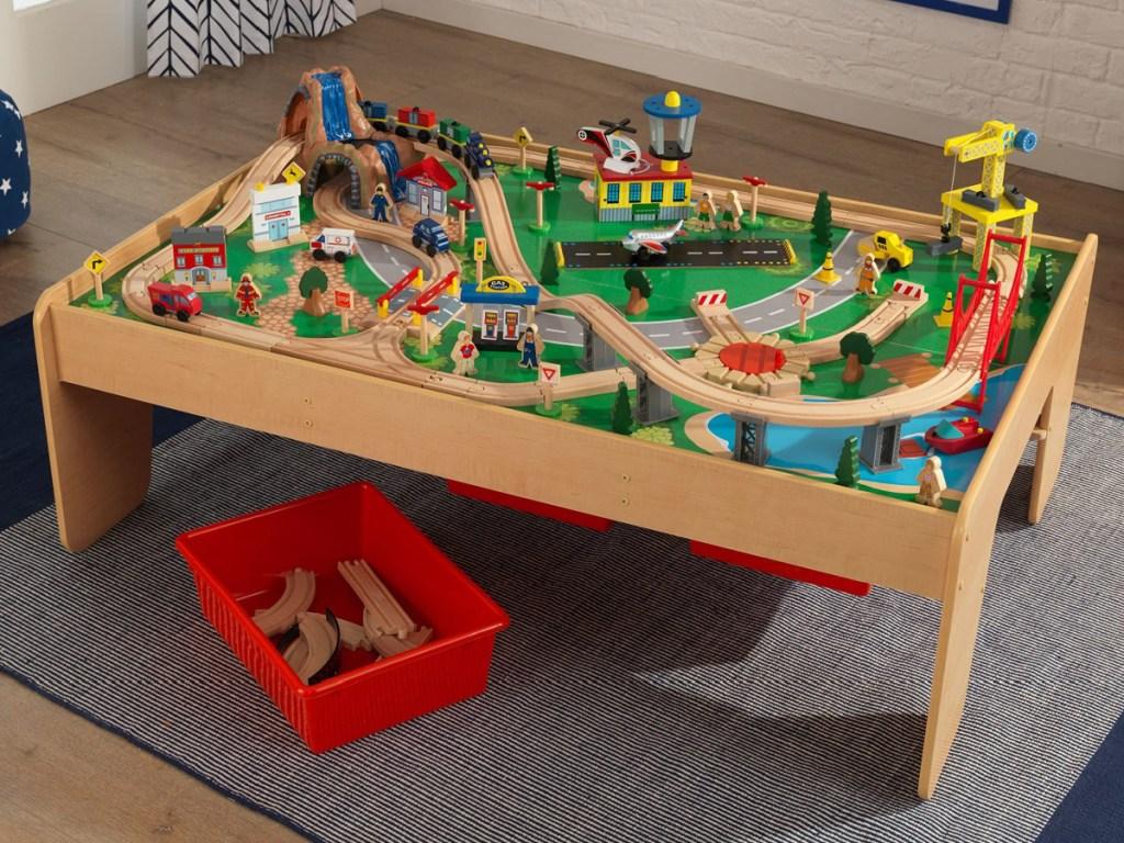 large kidkraft train table set