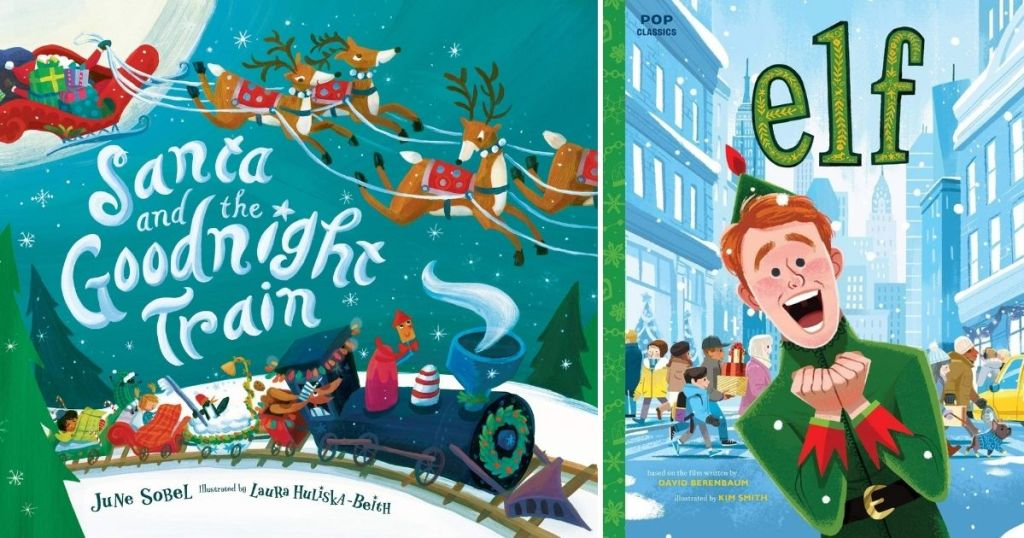 Santa and Elf book covers