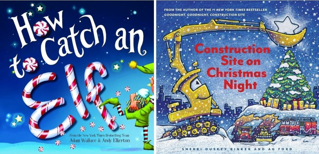 two kids christmas book covers