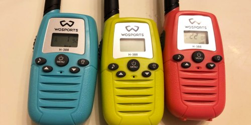 Kids Walkie Talkies 3-Pack Only $20.99 Shipped on Amazon | Over 1.5 Mile Range & Bright Flashlight