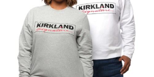 Kirkland Signature Logo Fleece Sweatshirts Only $19.99 Shipped on Costco.com   White Elephant Gift Idea