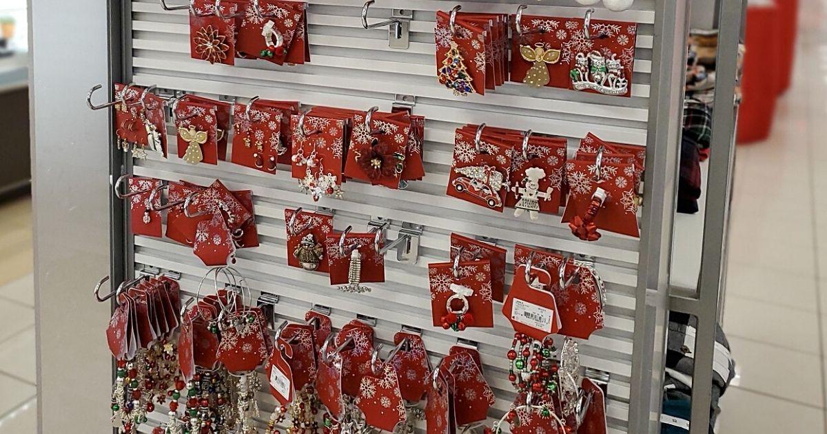 Christmas earrings at Kohl's