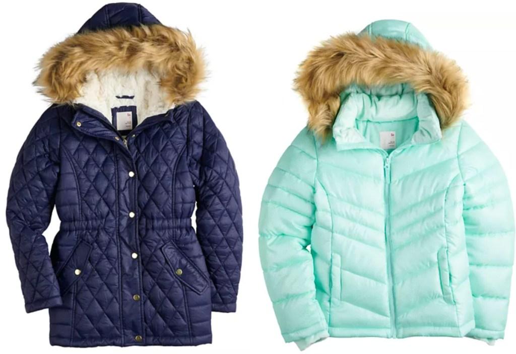 2 girls SO jackets at kohl's