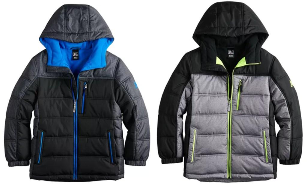 2 boys zeroxposure winter jackets