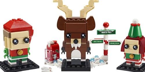 LEGO Brickheadz Reindeer, Elf and Elfie Set Only $9.99 on Walmart.com (Regularly $20) | Cute Stocking Stuffer