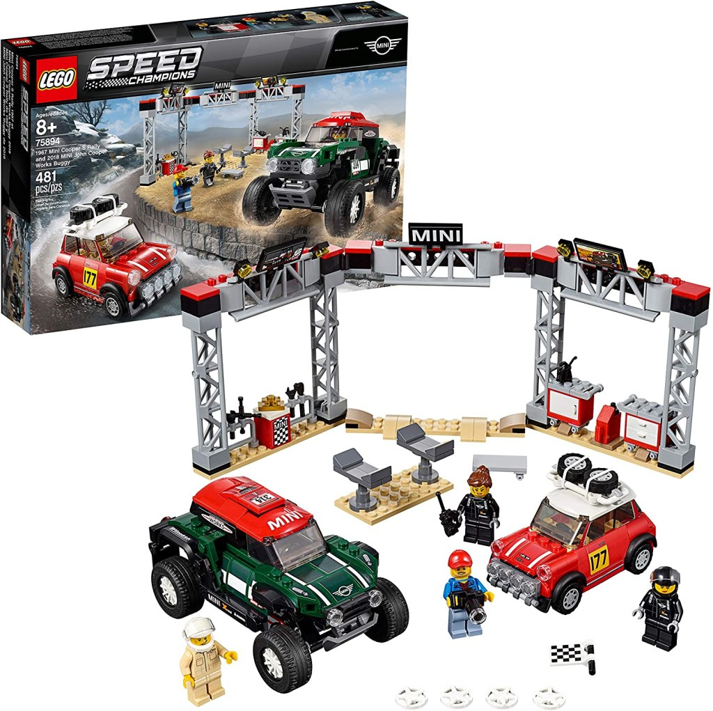 LEGO Speed Champions 1967 Mini Cooper S Rally and 2018 MINI John Cooper Works Buggy 481-Piece Building Kit