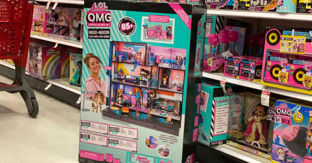 large doll house in aisle