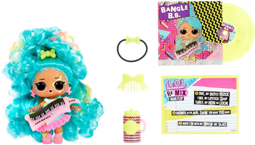 LOL Remix Hairflip doll and accessories