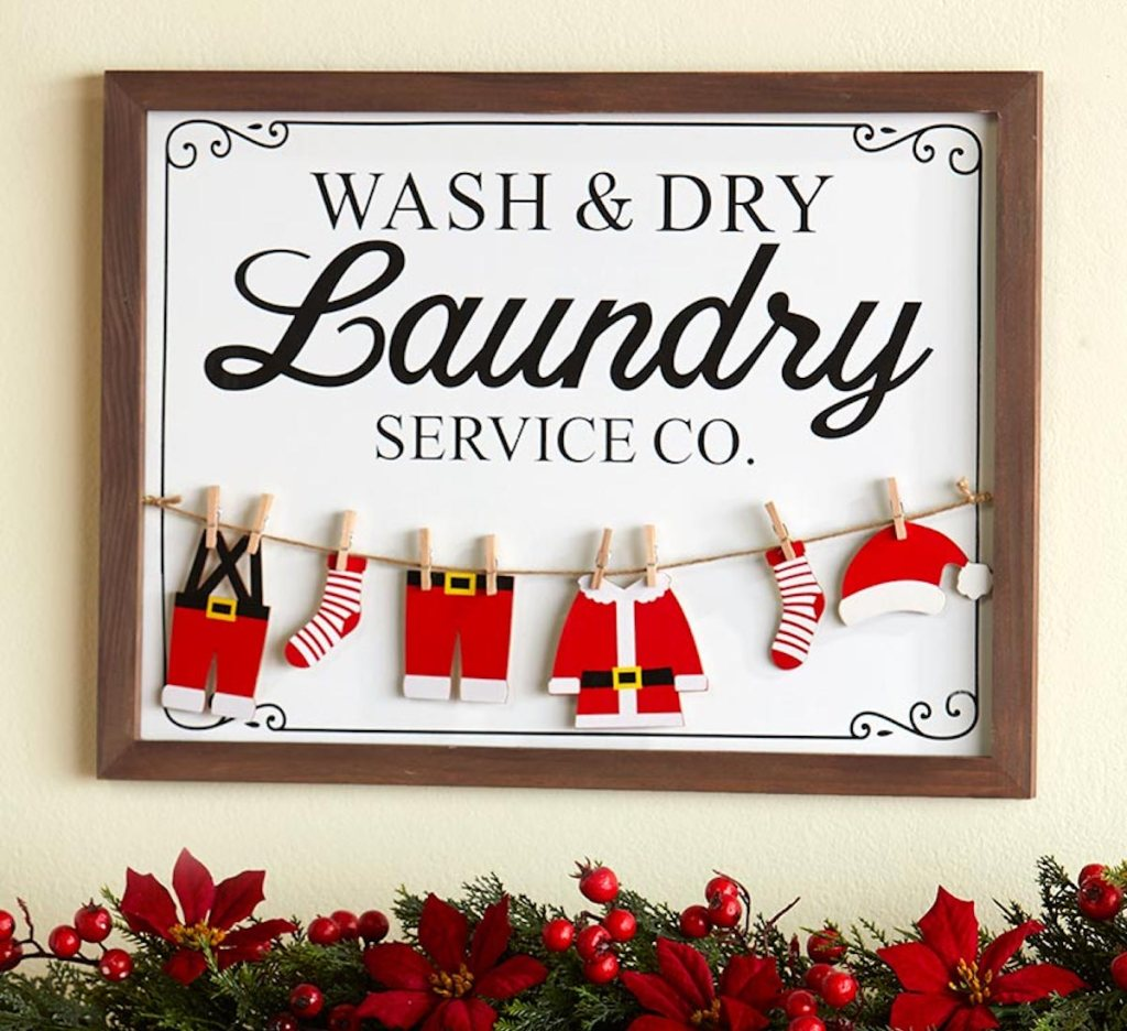 Laundry Sign Christmas themed