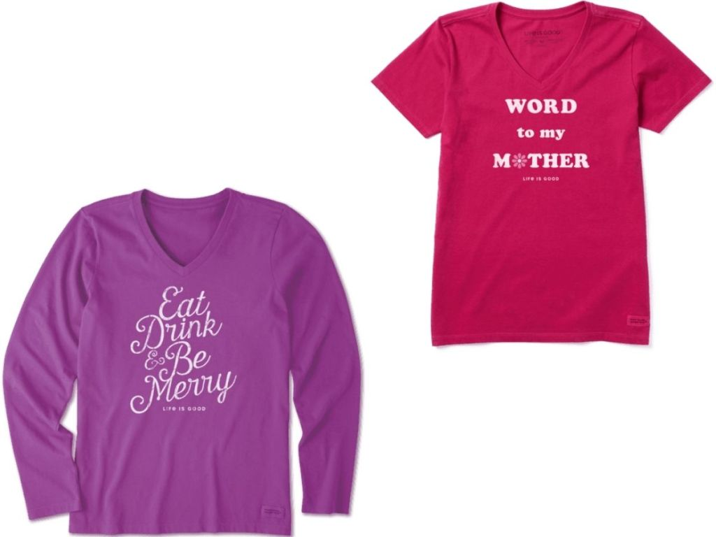 two life is good t-shirts for women