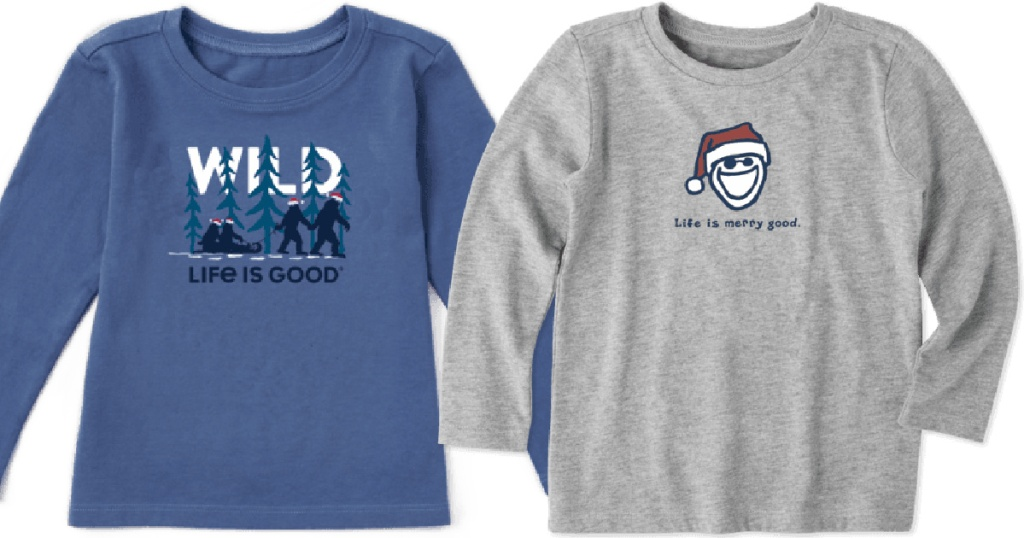 life is good kids blue wild and grey life is a good merry shirts