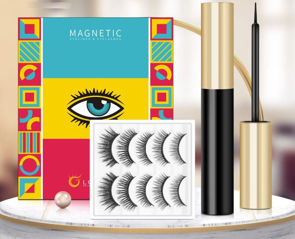 magnetic lashes and eyeliner