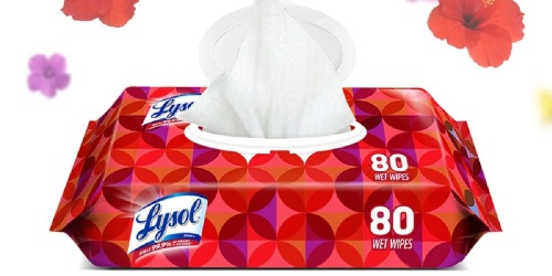 Lysol Disinfecting Wipes 320-Count Only $14.99 on Amazon