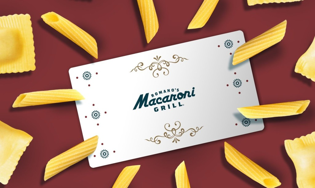 gift card surrounded by noodles