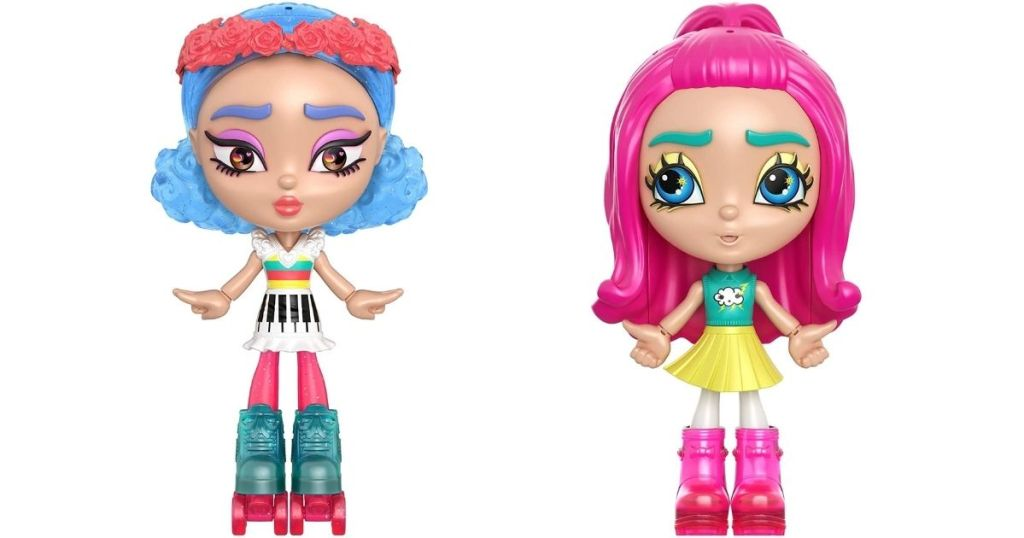 two Mattel Lotta Looks Dolls