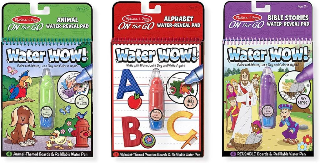 Melissa & Doug Animals, Alphabet & Bible Water Wow! Activity Pad Set