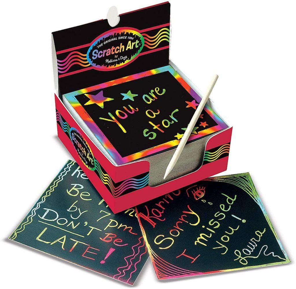 stock image of Melissa & Doug Scratch Art Box of Rainbow Mini Notes