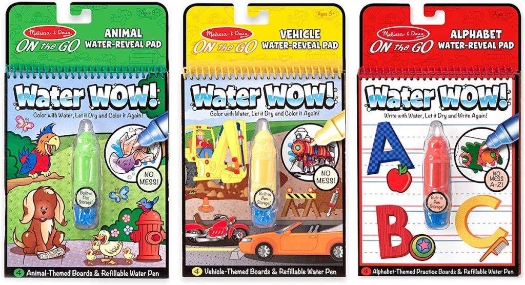 Melissa & Doug Vehicles, Animals & Alphabet On the Go Water Wow! Activity Pad Set