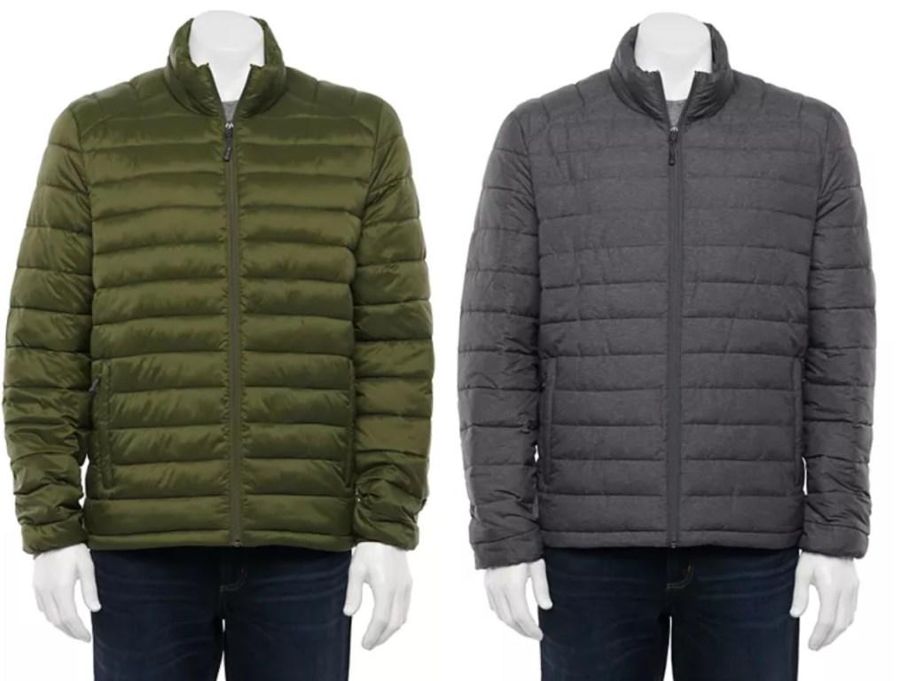 2 men's puffer jackets at kohls
