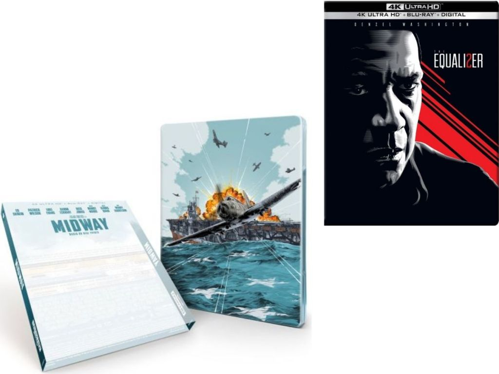 Midway and The Equalizer Steelbooks