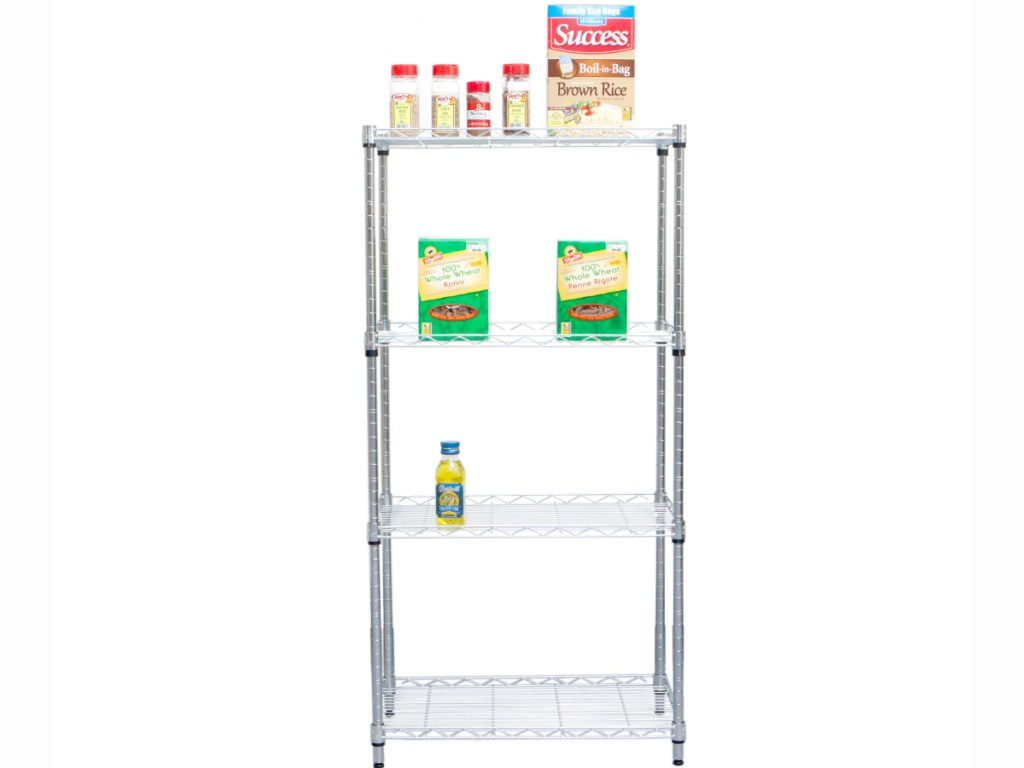 Mind Reader Heavy Duty 4 Shelf Metal Storage Shelving Unit