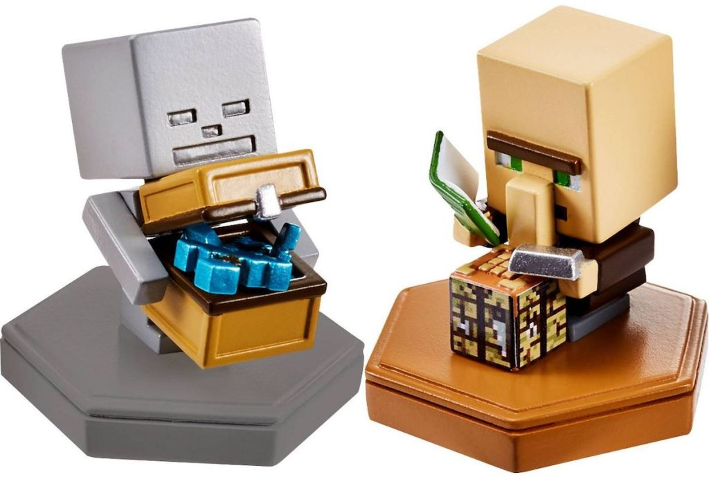 two Minecraft Boost Skeleton Figures