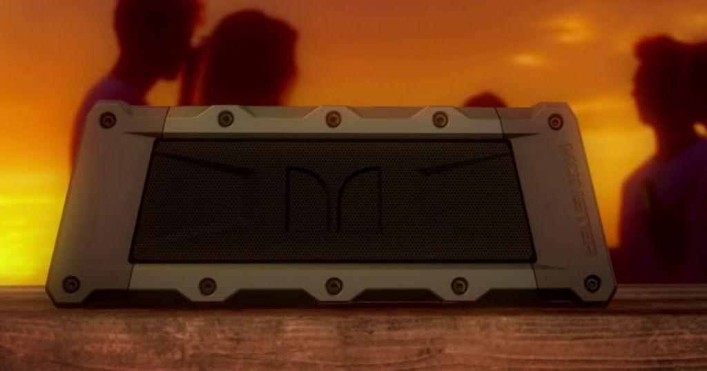Monster Slate Portable Speaker at sunset