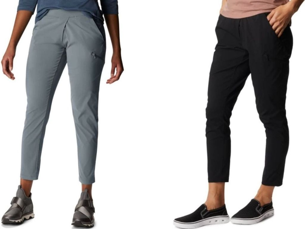 Two women wearing ankle length pants