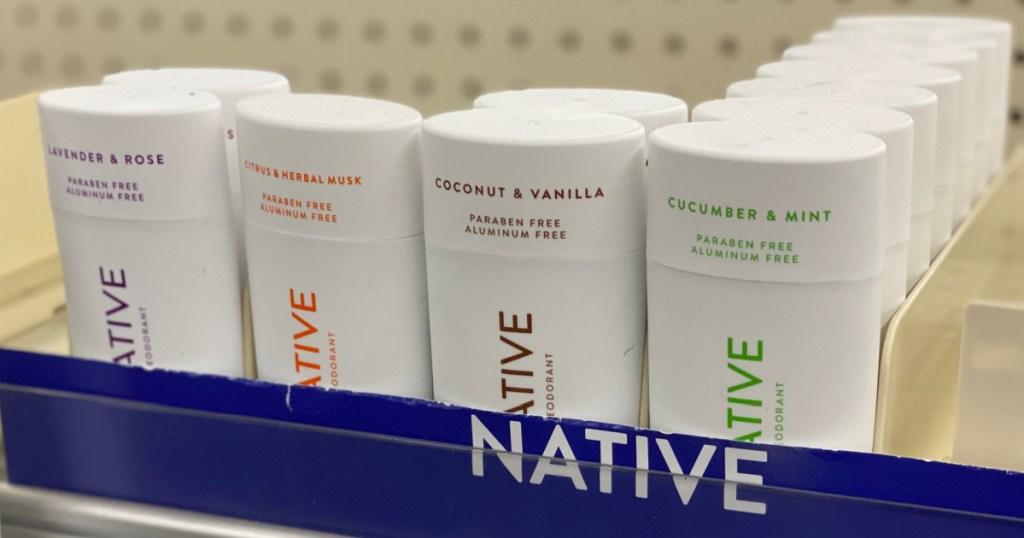 deodorant on shelf