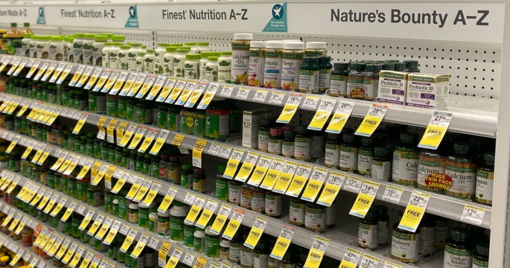 vitamins on shelf