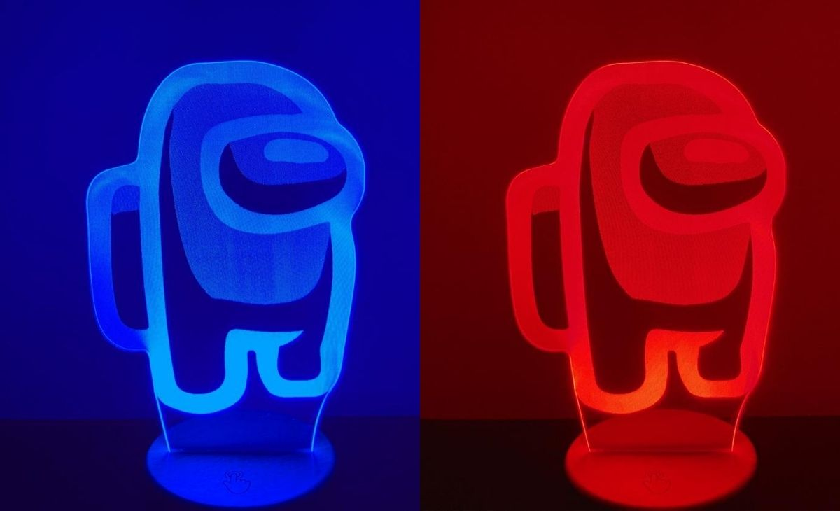 A color changing night light