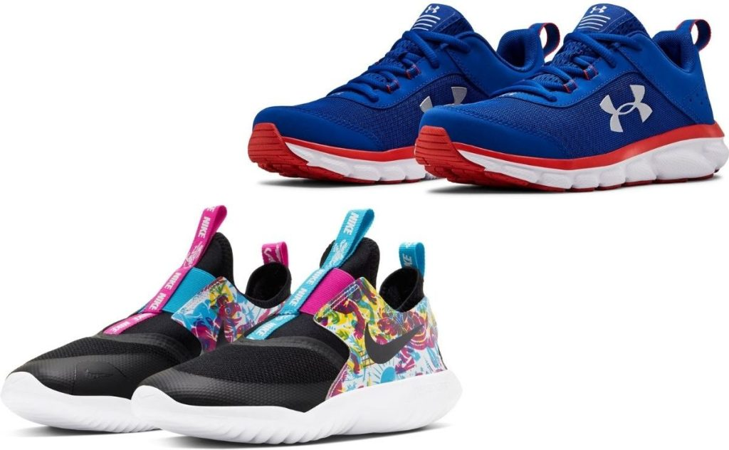 Nike and Under Armour Kids Shoes