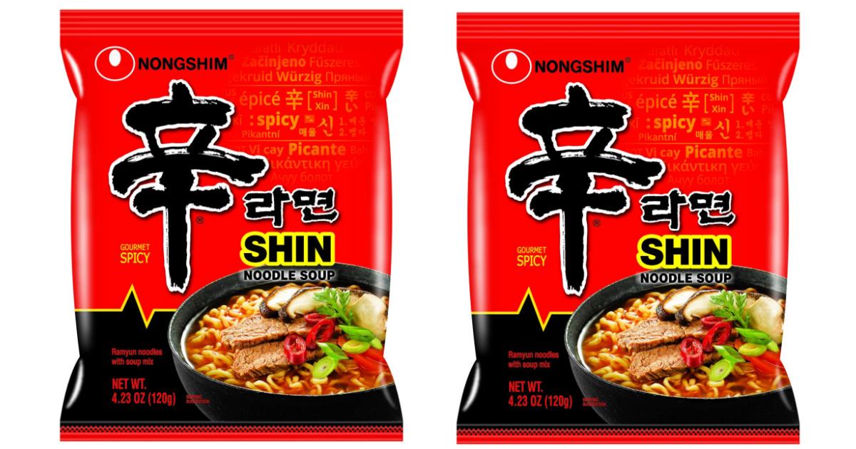 Nongshim spicy noodle soup packs
