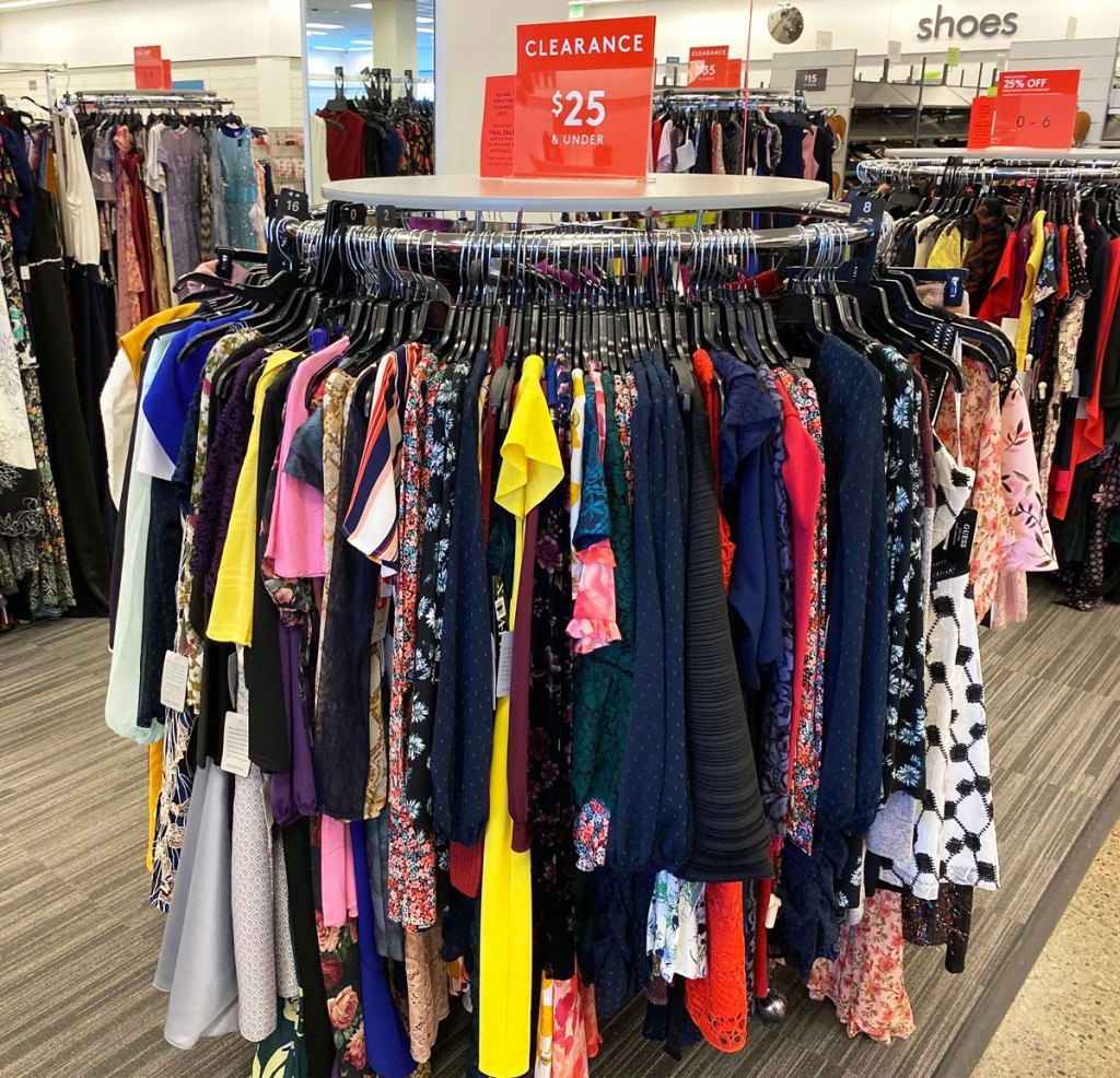 rack of women's dresses on clearance at nordstrom rack